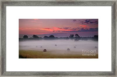 Early Morning Sunrise On The Natchez Trace Parkway In Mississippi Framed Print by T Lowry Wilson