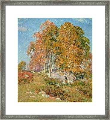 Early October Framed Print by Willard Leroy Metcalf