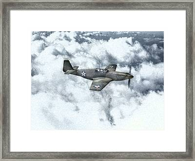 Early P-51 Mustang Fighter  Framed Print by Randy Steele