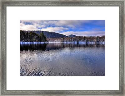 Early Snow On West Lake Framed Print by David Patterson