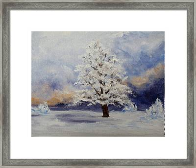 Early Snow Framed Print by Thomas Restifo