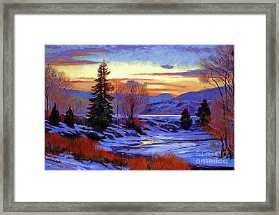 Early Spring Daybreak Framed Print by David Lloyd Glover