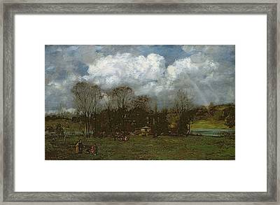 Early Spring Framed Print by Hans Thoma
