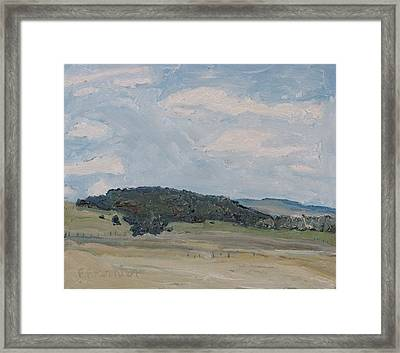 Early Spring Hill Framed Print by Francois Fournier