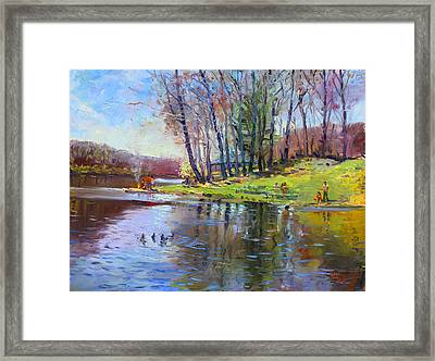 Early Spring In Bear Mountain Framed Print by Ylli Haruni