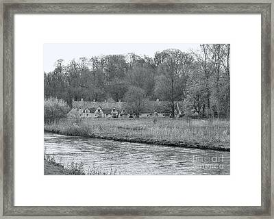 Early Spring In England Black And White Framed Print by Jasna Buncic