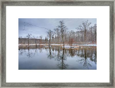Early Spring In New England Framed Print by Bill Wakeley