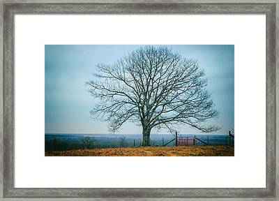 Early Winter In Maine Framed Print by Joseph Smith