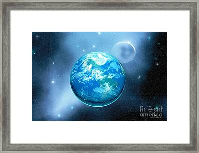 Earth Framed Print by Corey Ford