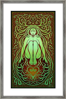 Earth Spirit Framed Print by Cristina McAllister