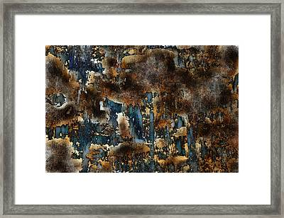Earth Tone Abstract Framed Print by Frank Tschakert