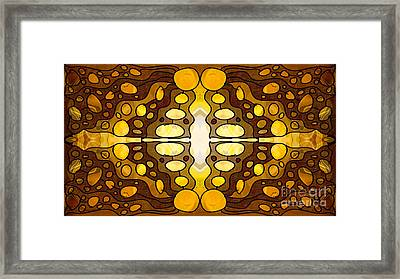 Earthly Awareness Abstract Organic Artwork By Omaste Witkowski Framed Print by Omaste Witkowski