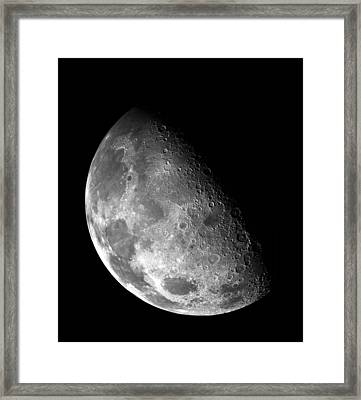 Earth's Moon In Black And White Framed Print by The  Vault - Jennifer Rondinelli Reilly