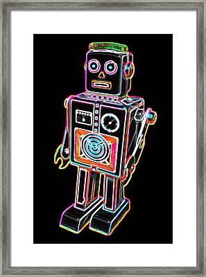 Easel Back Robot Framed Print by DB Artist