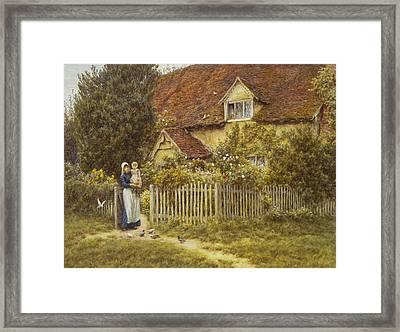 East End Farm Moss Lane Pinner Framed Print by Helen Allingham