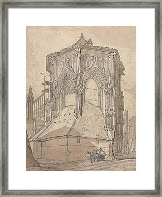 East End Of Saint Jacques At Dieppe, Normandy Framed Print by John Sell Cotman