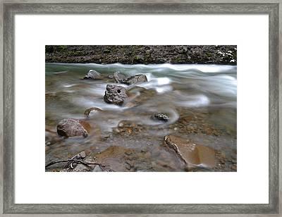 East Fork Of The Hood River Framed Print by Jeff Swan