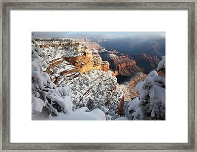 East Rim Snowscape Framed Print by Mike Buchheit
