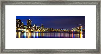 East River View Framed Print by Az Jackson