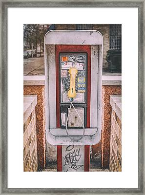 East Side Pay Phone Framed Print by Scott Norris