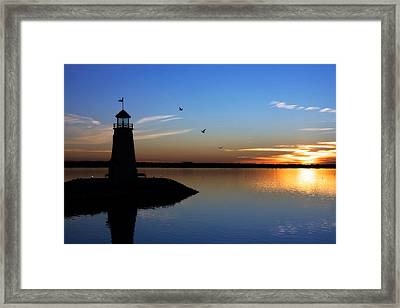 East Warf Sunset Framed Print by Lana Trussell