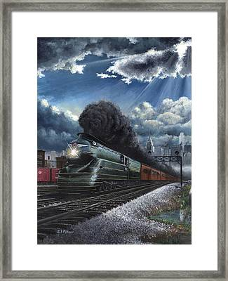 Eastbound Broadway Limited Framed Print by David Mittner