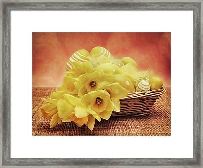 Easter Basket Framed Print by Wim Lanclus
