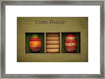 Easter Card Framed Print by Heike Hultsch