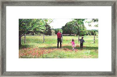 Easter Morning In Paige Framed Print by Joella Reeder