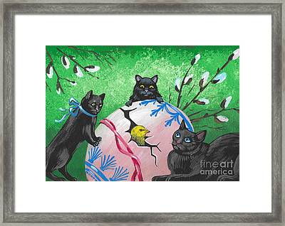 Easter Surprise Framed Print by Margaryta Yermolayeva
