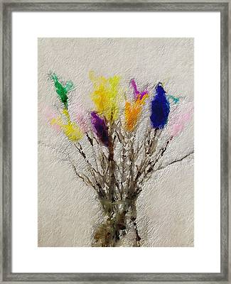Easter Tree- Abstract Art By Linda Woods Framed Print by Linda Woods