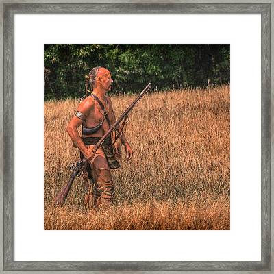 Eastern Woodlands Indian Scout 1 Framed Print by Randy Steele