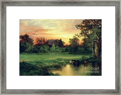 Easthampton Framed Print by Thomas Moran