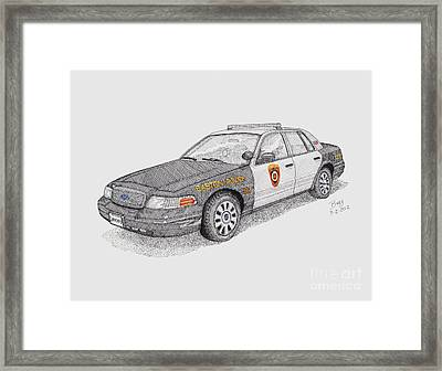 Easton Maryland Police Car Framed Print by Calvert Koerber