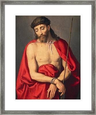 Ecce Homo Framed Print by Giovanni Battista Moroni