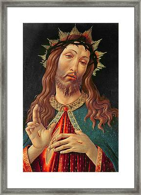 Ecce Homo Or The Redeemer Framed Print by Botticelli