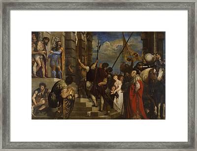 Ecce Homo Framed Print by Titian
