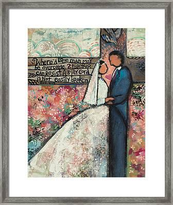 Ecclesiastes 4 12 Wedding Art Framed Print by Jen Norton