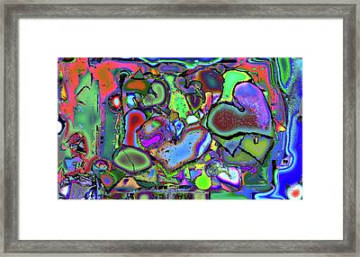 Eclectic Love Overflows Framed Print by Kenneth James