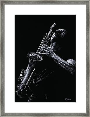 Eclectic Sax Framed Print by Richard Young