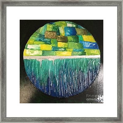 Eco-island Framed Print by Agota Horvath
