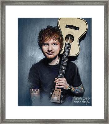 Ed Sheeran Framed Print by Andre Koekemoer