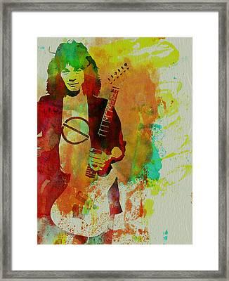 Eddie Van Halen Framed Print by Naxart Studio