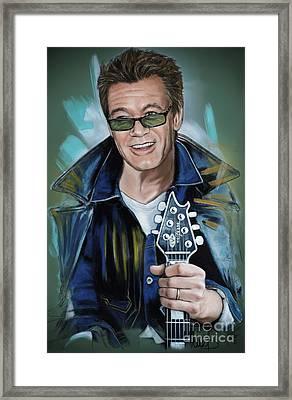 Eddie Van Halen Framed Print by Melanie D