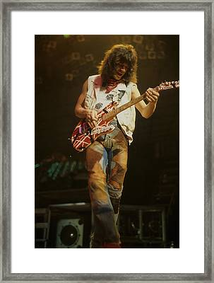 Eddie Van Halen Framed Print by Rich Fuscia
