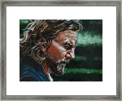 Eddie Vedder Framed Print by Joel Tesch