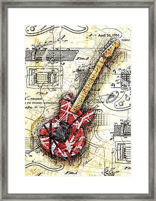 Eddie's Guitar II Framed Print by Gary Bodnar