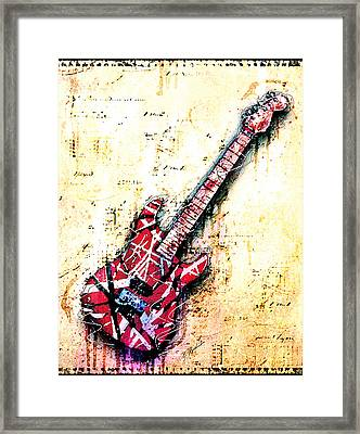 Eddie's Guitar Variation 07 Framed Print by Gary Bodnar