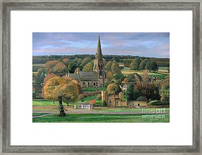 Edensor - Chatsworth Park - Derbyshire Framed Print by Trevor Neal