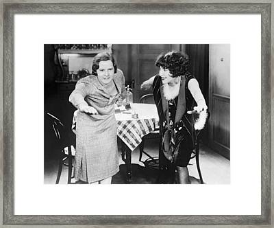 Ederle Coaches Bebe Daniels Framed Print by Underwood Archives